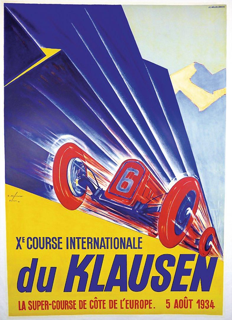 10. KLAUSEN RENNEN 1934 Veranstaltungsplakat - 19.046,40€