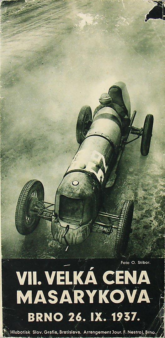 VII. GRAND PRIX BRNO 1937, Faltprospekt - 452,35€
