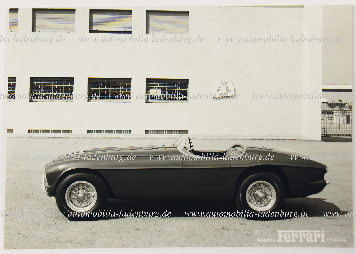 Original company photo Ferrari type 340 America Barchetta Touring - hammer price 4.500 €