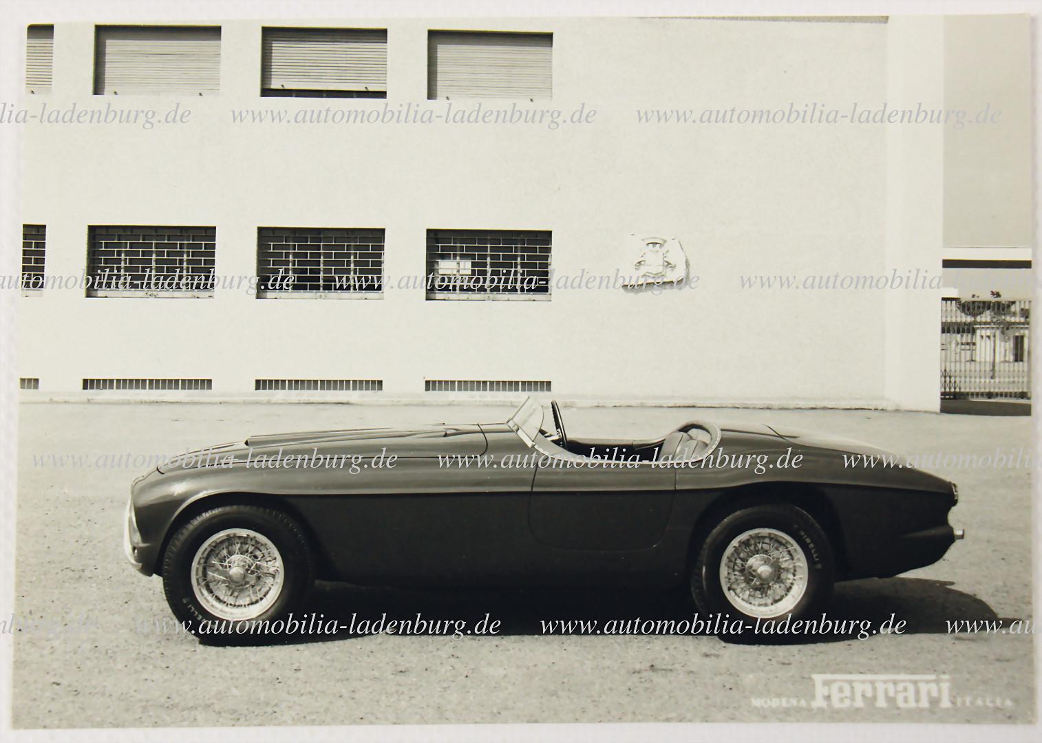 Werksfoto Ferrari Typ 340 America Barchetta Touring - Zuschlag 4.500 €