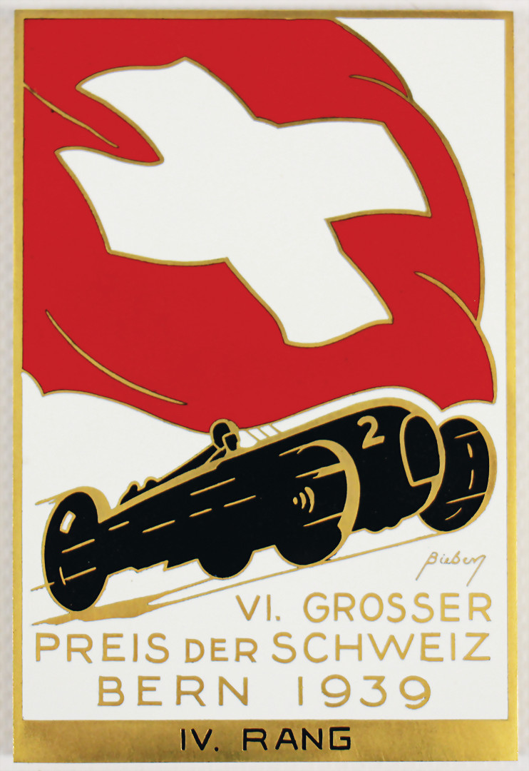 Winner badge for the 4th place at the Swiss Grand Prix Berne 1939 - hammer price 2.900 €