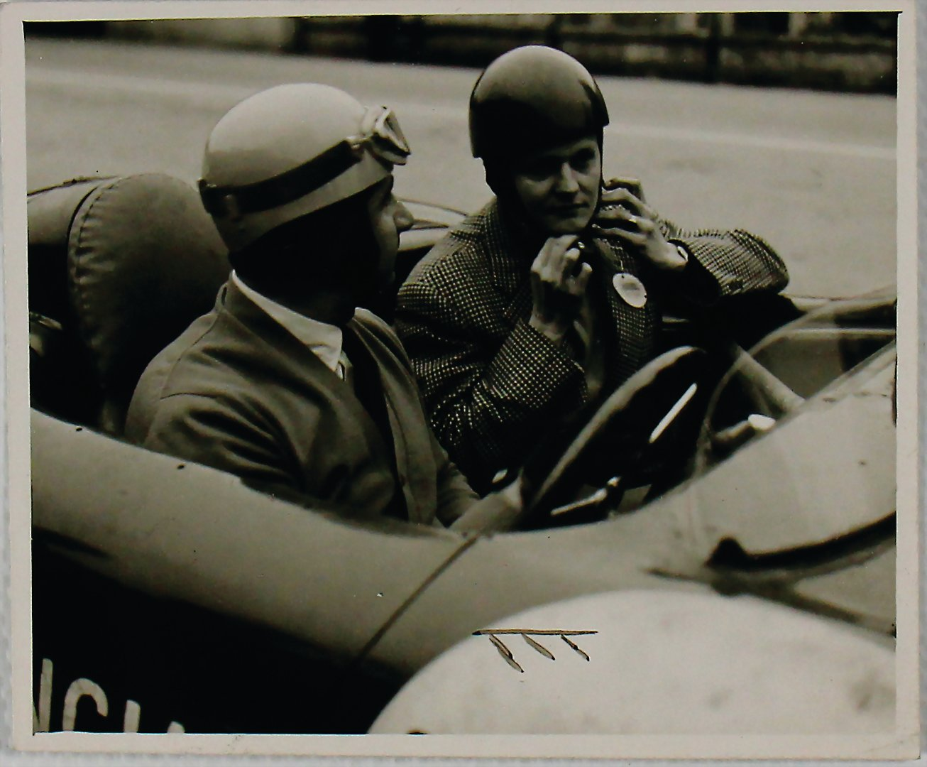 ALBERTO ASCARI Original photo Ascari in a Lancia D24