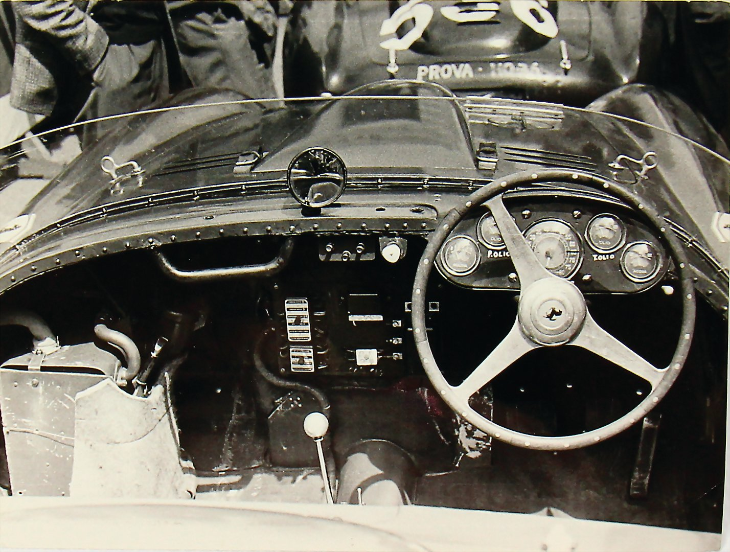 1954 FERRARI original photo Giannino Marzotto in a Ferrari 375 plus spider Mille Miglia