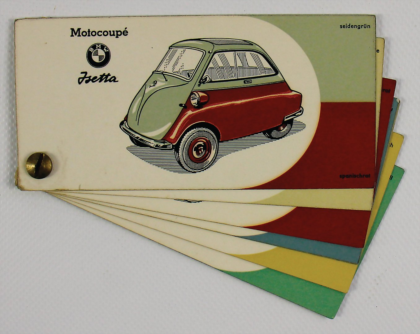 BMW paint sample card BMW Motocoupe Isetta