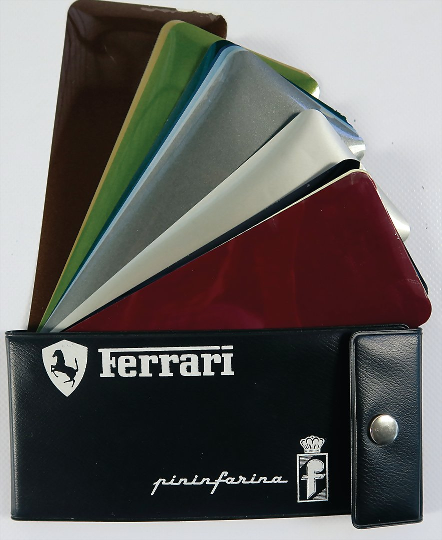 FERRARI paint samples 16x from 1970's