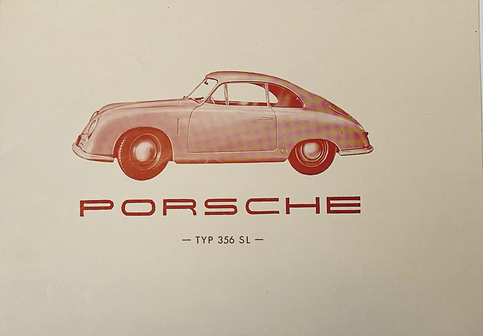 Fold-out brochure - Porsche 356SL - hammer price 15.000 €