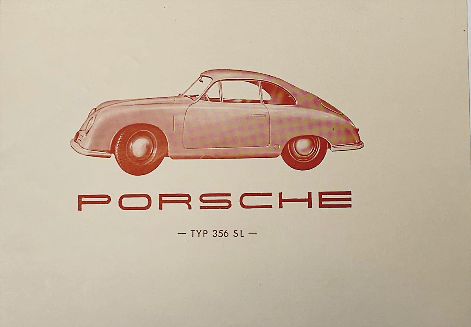 Faltprospekt Porsche 356SL - Zuschlag 15.000 €