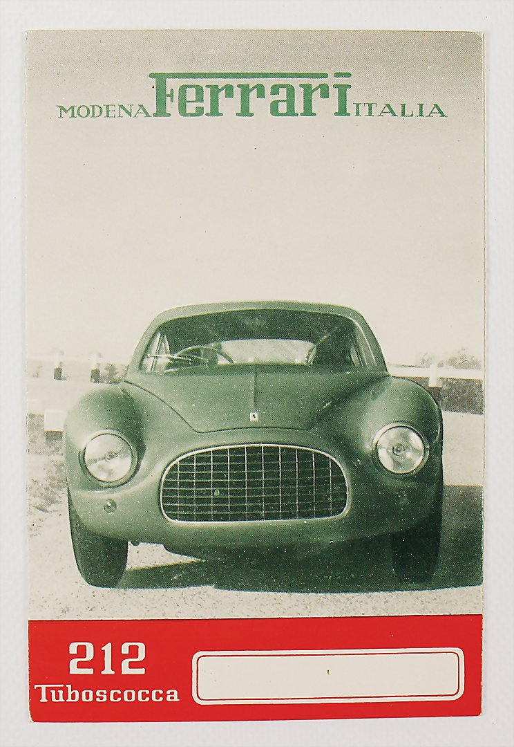fold-out brochure Ferrari 212 - hammer price 9.000 €