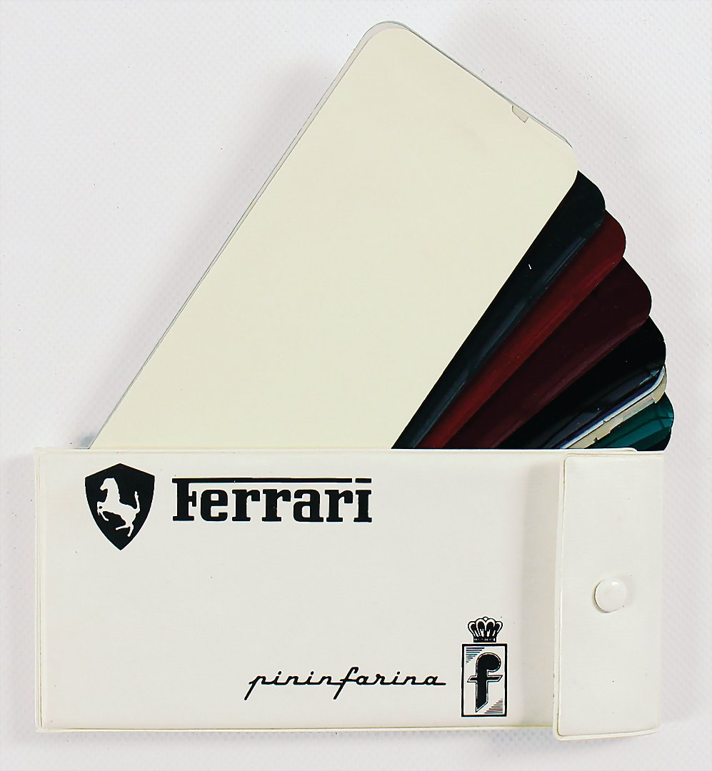 color charts samples Ferrari Pininfarina 70s - hammer price 4.800 €