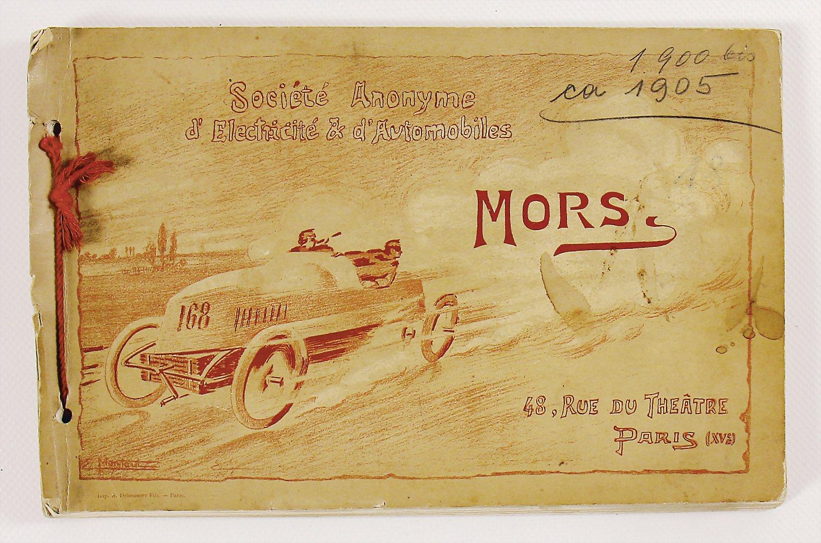 1905 Verkaufskatalog Mors - Zuschlag 3.000 €