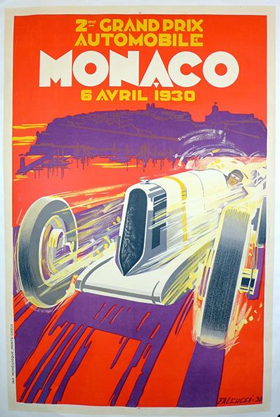 Event poster Monaco Grand Prix Automobilie 1930