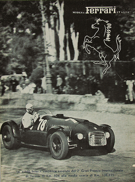 First Ferrari brochure 166 Inter