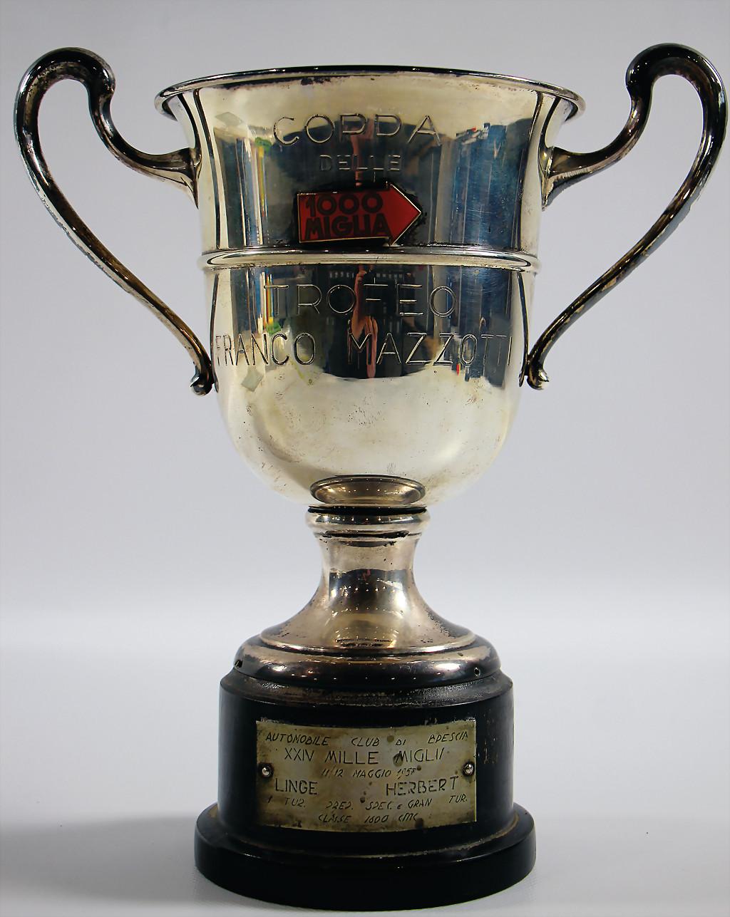 Mille Miglia cup 1957 Linge/Strähle - result 5.500 €