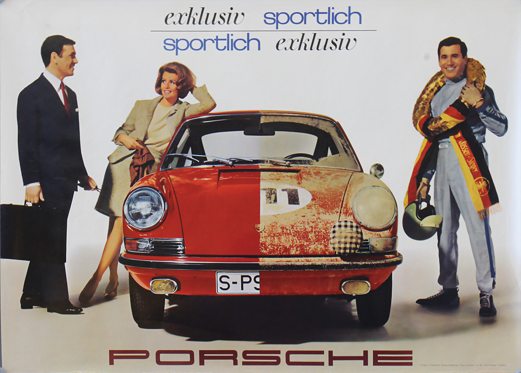 Porsche advertisement poster 1967  - result 3.600 €