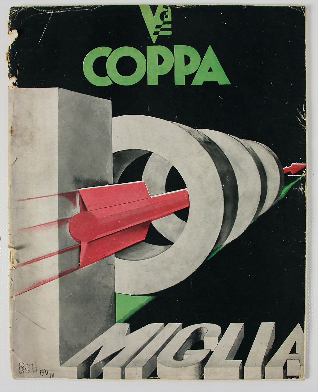 Mille Miglia race programme 1931 - result 1.500 €