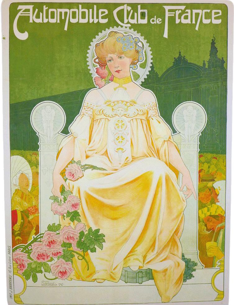 Werbeplakat Automoble Club de France 1903