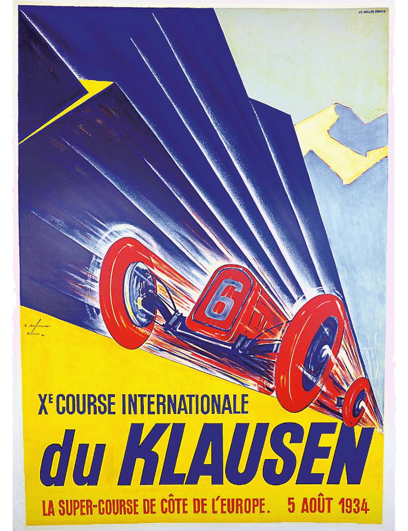 Veranstaltungsplakat Klausenrennen 1934