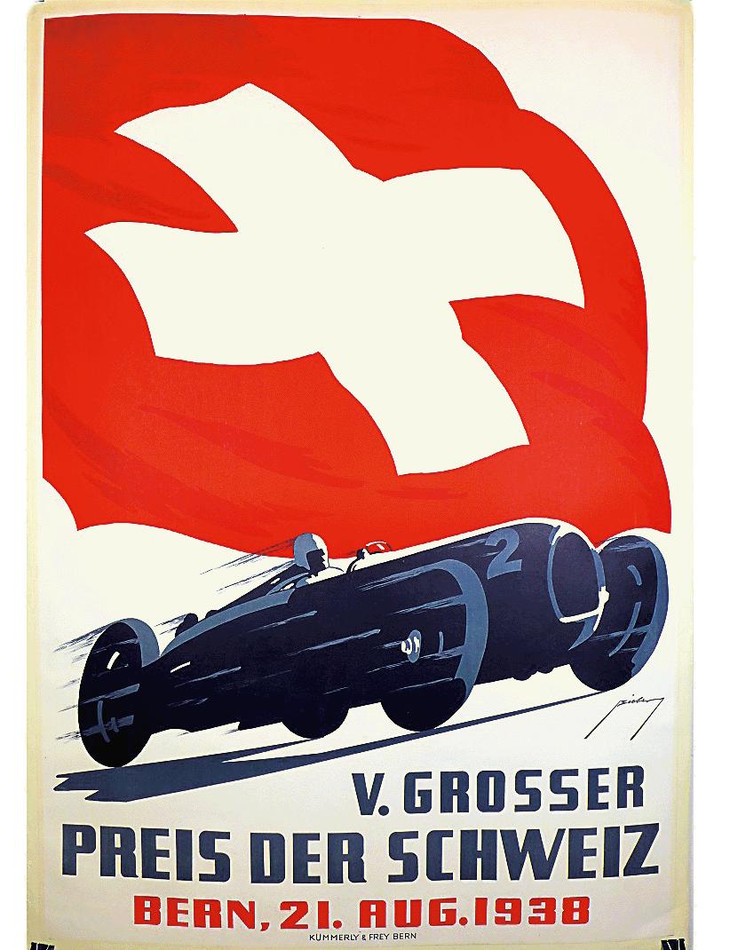 Veranstaltungsplakat Grosser Preis der Schweiz 1938
