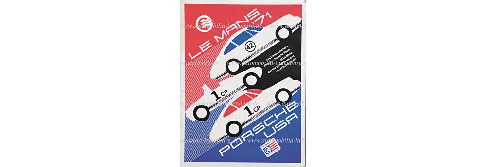 No. 2081 - Porsche racing poster