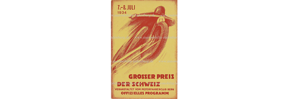 No. 6281 - 1934 programme Grand Prix Bern