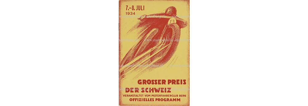 Nr. 6281 - 1934 Programm Grand Prix Bern