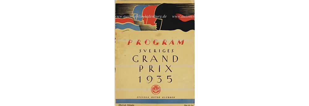 No. 97 - Programme Grand Prix Schweden 1935