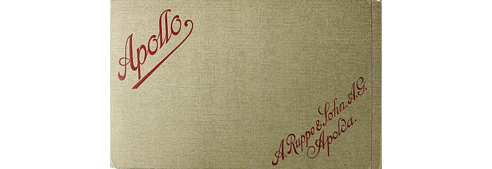 1911 APOLLO A. Ruppe & Sohn AG Apolda Verkaufsmappe Motorwagen