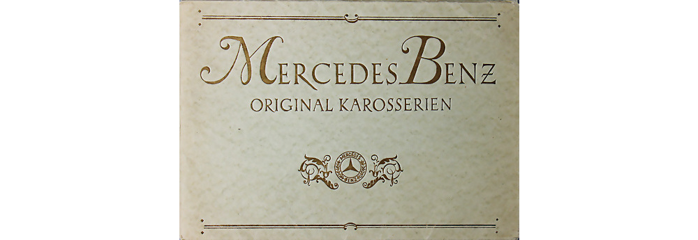 1926 Mercedes Benz Verkaufsmappe 12/55PS, vollständig