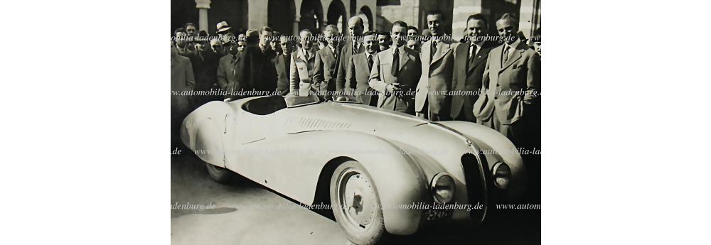 1940 Mille Miglia original s/w Aufnahme BMW 328 'Bügelfalte'
