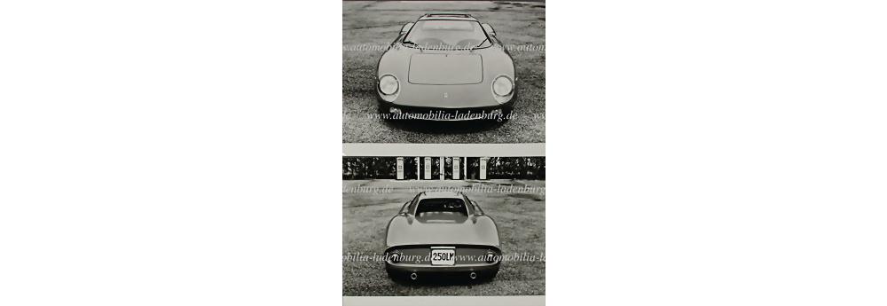 Ferrari, 2x Original Werkfotos Ferrari 250 LM
