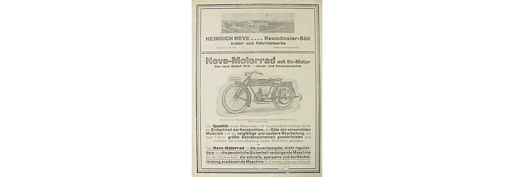 Neve-Motorrad, Verkaufsprospekt