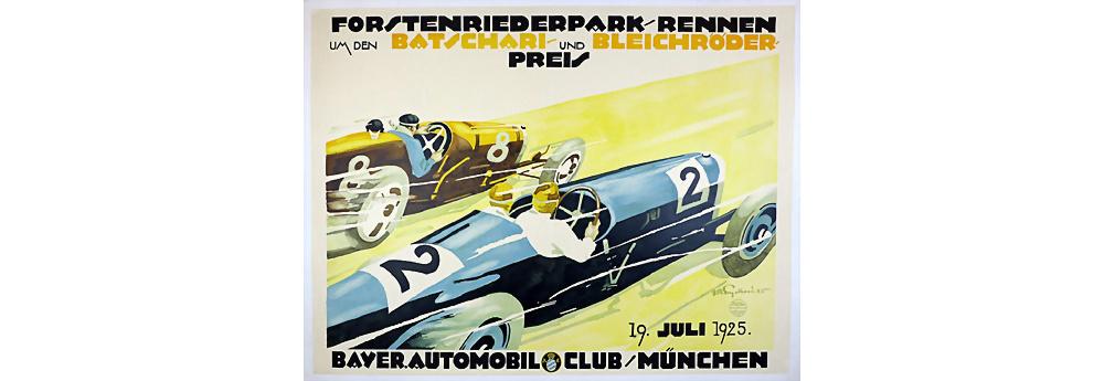 1925 Veranstaltungsplakat, Forstenriederpark Rennen