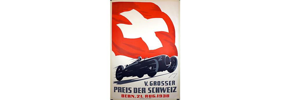 Bern 1938 Veranstaltungsplakat, Großer Preis der Schweiz