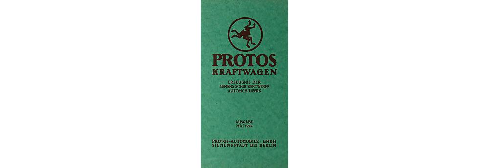 1922 PROTOS Verkauskatalog 10/30PS, 20 Seiten