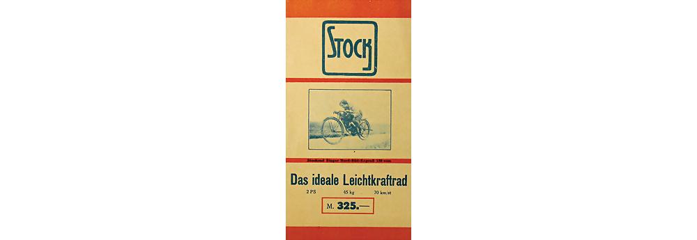 1925 STOCK Faltprospekt 'Das ideale Leichtkraftrad', 8 Seiten