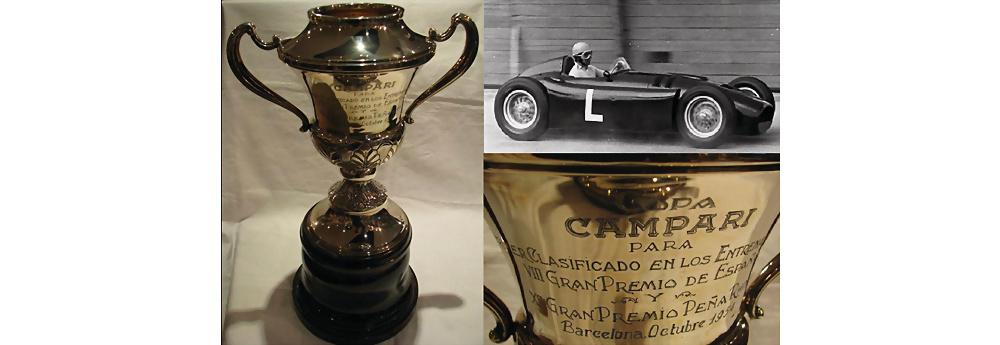 Alberto Ascari 1954 Großer Preis von Spanien Trophäe