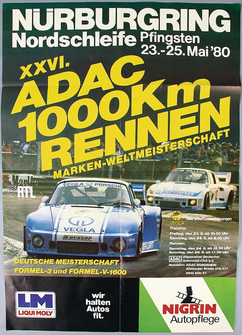 Bright Adac Avd Aufkleber 300km Rennen Nürburgring 28.märz 1982 Sticker Goodyear Gp Aufkleber