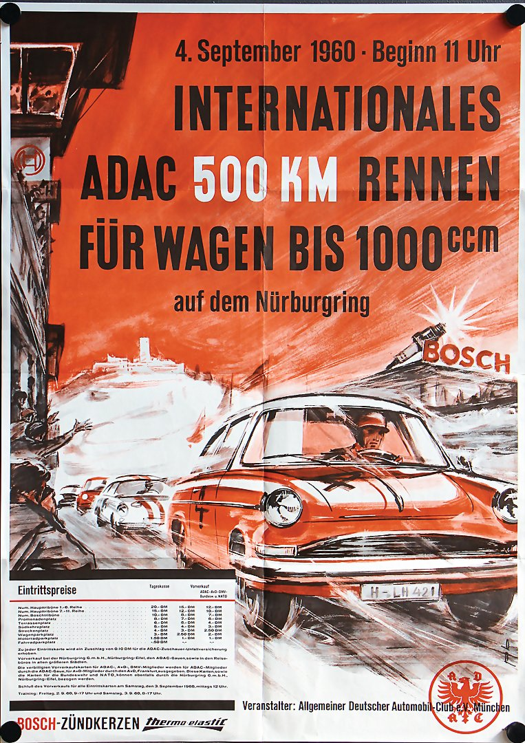 Bright Adac Avd Aufkleber 300km Rennen Nürburgring 28.märz 1982 Sticker Goodyear Gp Auto & Motorrad: Teile Automobilia
