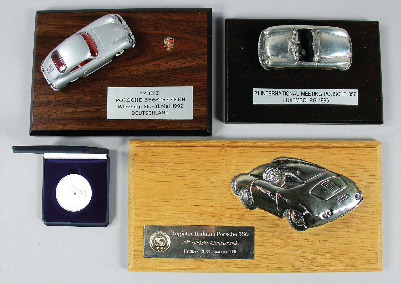 PORSCHE 100th ANNIVERSARY FERRY PORSCHE BIRTH 356 911 GRILL BADGE GIFT BOXED