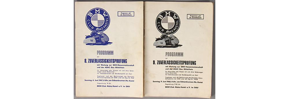 Nr. 3604 - BMW Programme 1967/1968 Zuverlässigkeitprüfung