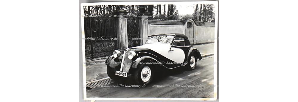 Nr. 3760 - S/W Aufnahme BMW 1,5 Liter mit Spezialkarosserie 1935