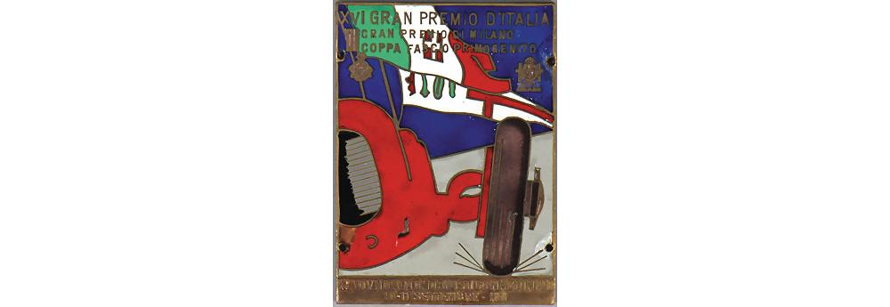 Nr. 3866 - Plakette XVI Gran Premio d'Italia 1938