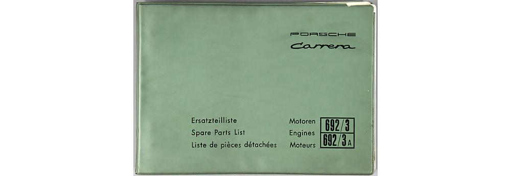 Nr. 3922 - Porsche 1961 Ersatzteilliste für Motoren Typ 692/3 und 692/3A