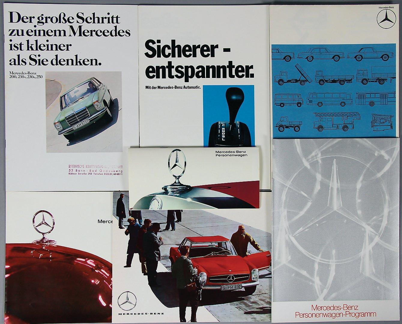 Sammeln & Seltenes Prospekt Broschüre 1973 Seien Sie Im Design Neu Transport Sicherer Entspannter Mit Der Mercedes-benz Automatic