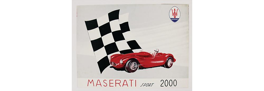 Nr. 148 - MASERATI Faltprospekt für Typ Maserati Sport 2000