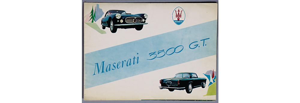 Nr. 2 - MASERATI Verkaufsprospekt Maserati 3500 G.T.