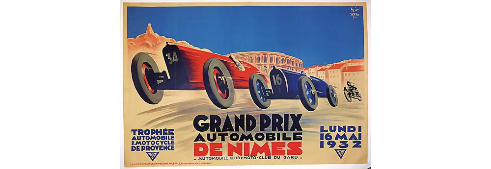 Nr. 2003 - Veranstaltungsplakat Grand Prix Nimes 1932, Benoit Falchetto