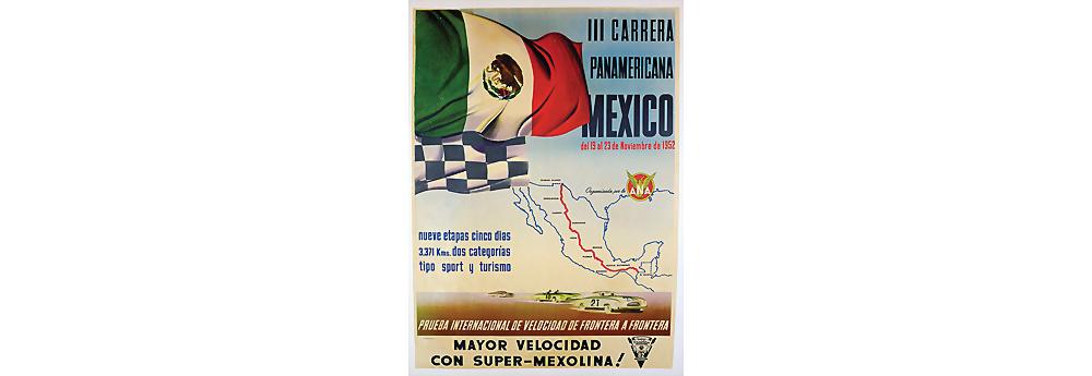 Nr. 2007 - Veranstaltungsplakat Carrera Panamericana Mexico 1952