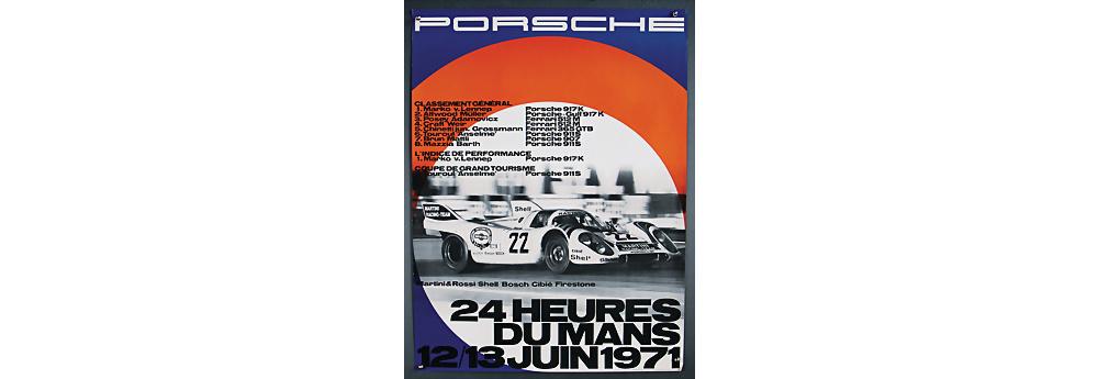 Nr. 2087 - PORSCHE Juni 1971, Porsche Rennplakat 24 Heures du Mans 1971