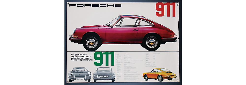 Nr. 2106 - PORSCHE Deutschland Oktober 1964, Werbeplakat Porsche 911